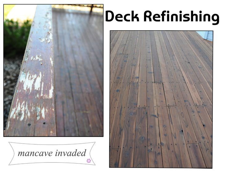Deck Refinishing | Mancave Invaded
