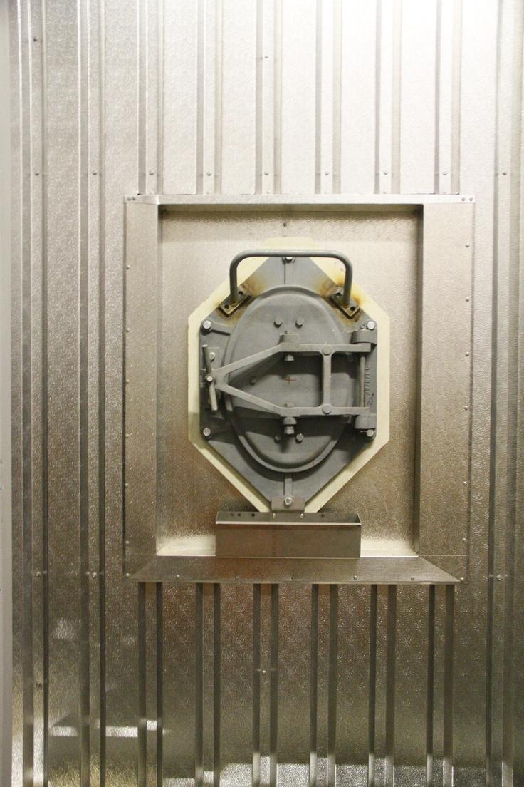 Insulation and metal work around access doors.
