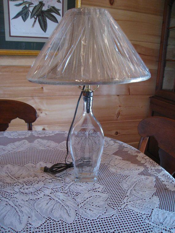 Lamp Angels Envy Whiskey Bottle by RockIslandDesigns on Etsy, $20.00