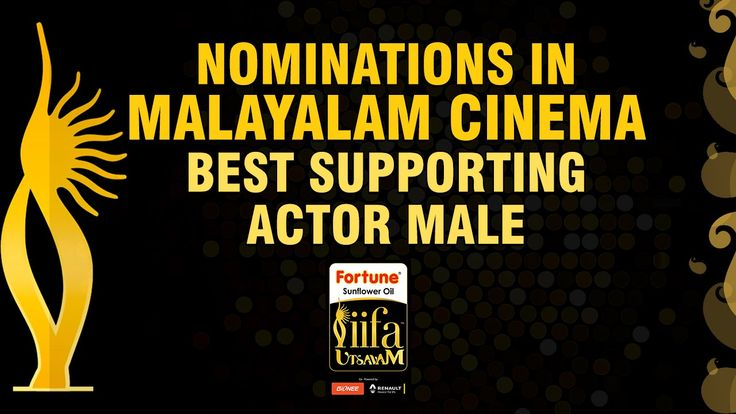 Welcome to IIFA Utsavam 2015 awards. The nominations for the best performance in a supporting role - Male for Malayalam cinema are
