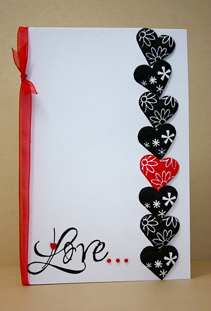 easy peasy Valentine's Day card  --  hearts = valentines day