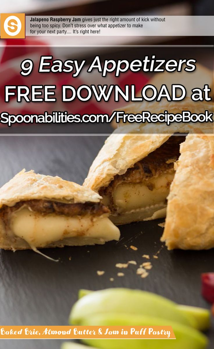 """Subscribe for your FREE copy of the """"9 Easy Appetizers"""" e-RecipeBook, weekly new recipes, and 10% off.  SAVE/PIN this so your friends can get one too!"""