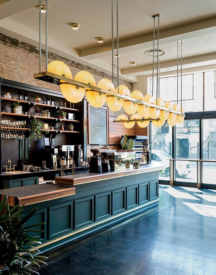 Mẫu thiết kế quầy pha chế đẹp cho quán cafe hiện đại