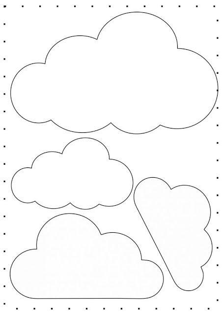 Nuvens em Feltro Baixar moldes de nuvens em feltro para decoração de mobile, guirlandas, bastidor, quadrinhos e muito mais. Nuvem de...