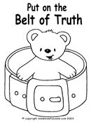 Armor of God Belt of Truth Coloring Pages