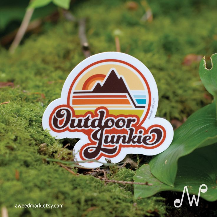 OUTDOOR JUNKIE STICKER: This Outdoor Junkie sticker is for all the adventurers who love the great outdoors. The ones who feel right at home playing in the rain. Or at ease sleeping under the stars. #liveoutdoors#adventurestickers#outdoorjunkie #outdoorsystickers#explorestickers#wanderstickers #wanderer #rusticdecal #outsidestickers #naturelover #outdoorsydecal #stickers #outdoors