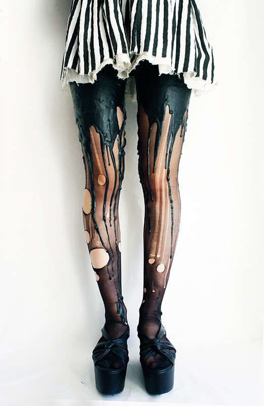 Candle Wax-Like Leggings - The URB Clothing Melting Tights are Made for Grunge Styles (GALLERY)