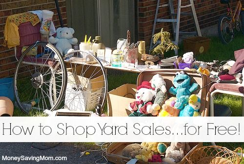 How to Shop Yard Sales for FREE!