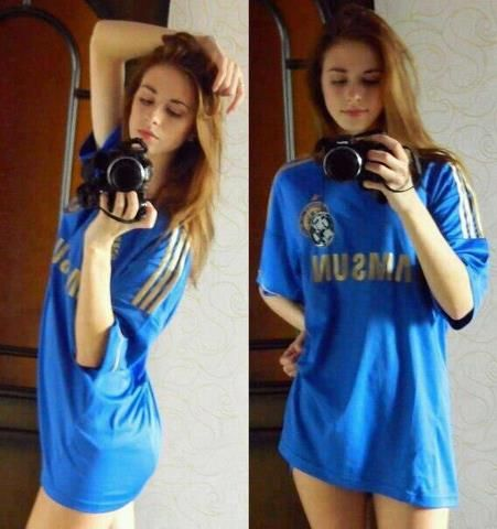 IMAGE: Super Hot Chelsea Fan in Chelsea Shirt. Gorgeous!!! http://sulia.com/my_thoughts/cda2fe84-1f03-492e-ad1e-75d0aecce751/?