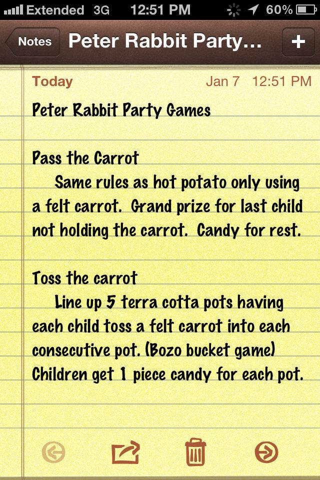 Peter Rabbit Party Games
