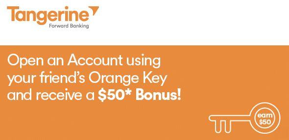 Canadian Online Banking. Open a Tangerine account with Orange Key: 49752643S1 and get $50 bonus!  #Tangerinebank #canadianbank #onlinebanking #orangekey #freebank #freechequingaccount