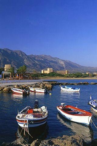 Los barcos de pesca, Castillo, Frangokastello, Creta, Grecia