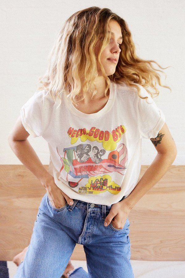 Say hello to your new favorite tshirt with graphics from The Beatles' Magical Mystery Tour.