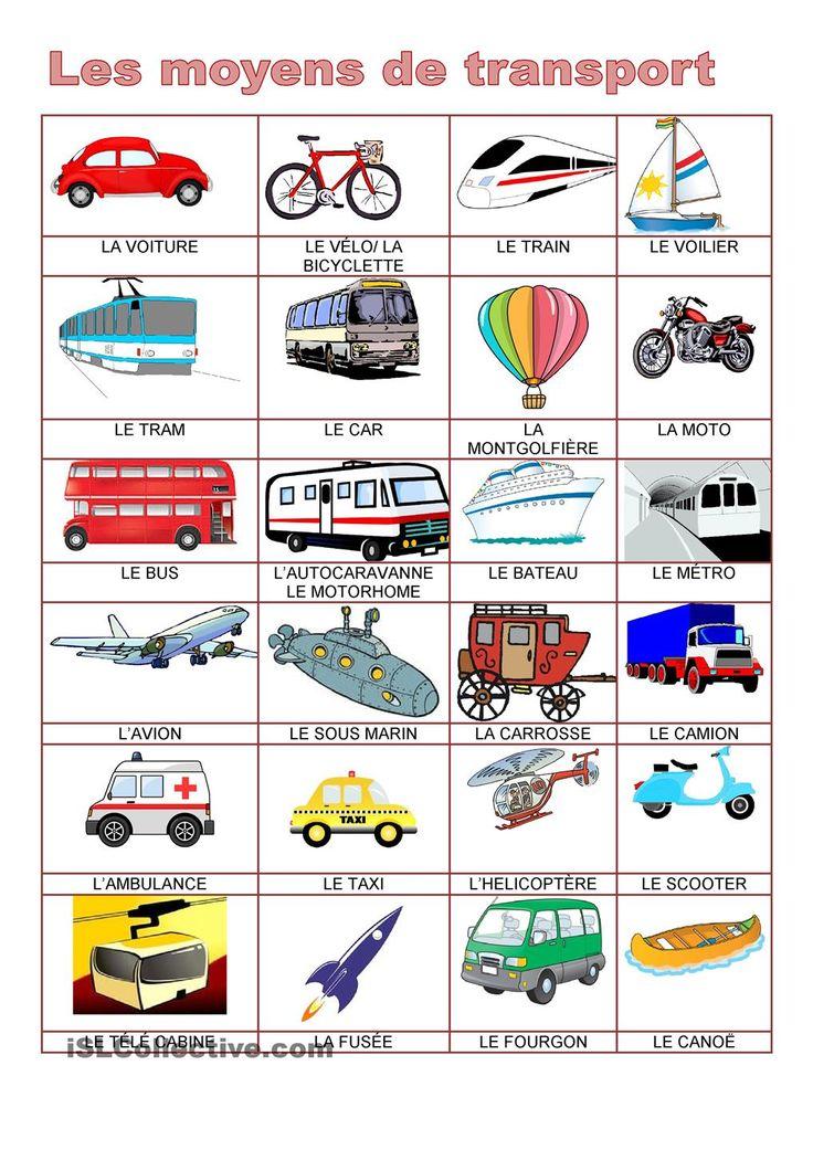 Moyens de transport moyens de transport pinterest - Devine tete a imprimer ...