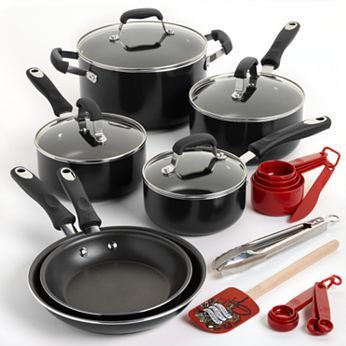 Guy Fieri 10-pc. Nonstick Cookware Set Plus 11-pc. Bonus Tools as low as $57.50! - http://couponingforfreebies.com/guy-fieri-10-pc-nonstick-cookware-set-plus-11-pc-bonus-tools-low-57-50/