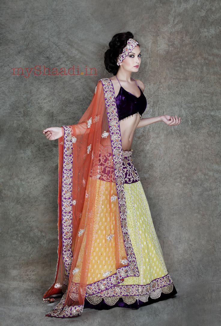 Indian Bridal Wear, Asha & Gautam Gupta | Myshaadi.in