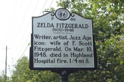 zelda fitzgerald photos | Zelda Fitzgerald Marker Photo, Click for full size