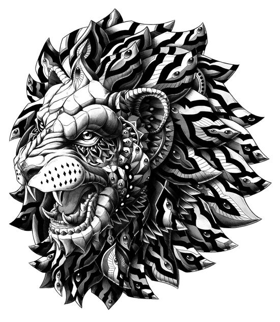 Lion Art Print - On t-shirts, iPhone and iPad Cases, pillows, mugs and bags... AMAZING!!!