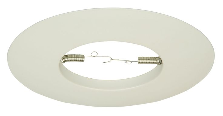 "Jeremiah Lighting T-508 8"" Diameter Open Ring Recessed Trim 75 Watt Max White Recessed Lights Recessed Trims Open Trims"