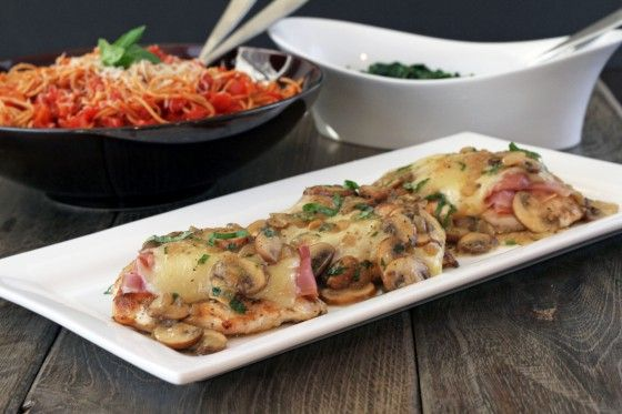 My Life as a Mrs. » Prosciutto & Fontina Chicken with Lemon Mushroom Sauce