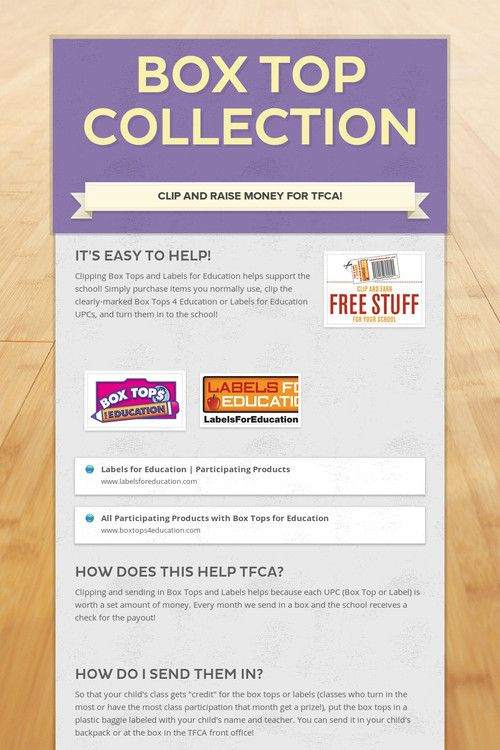 17 Best images about Box Tops for Education on Pinterest | The box ...