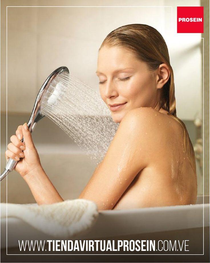 Una ducha de mano es ideal para un baño de descanso y relax. Encuéntralas en nuestra #TiendaVirtual