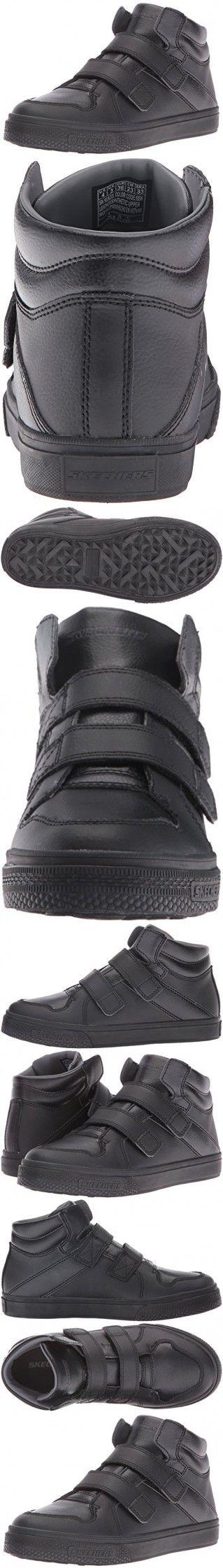 Skechers Kids Boys Brixor-Dapper Kickz Sneaker,Black/Black,5 M US Big Kid