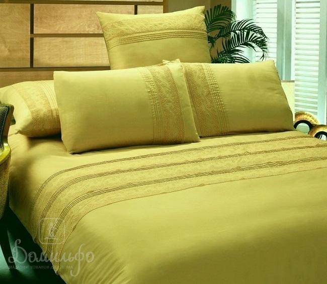 Постельное белье MATERVE желтое 2-сп от KingSilk (Китай) - купить по низкой цене в интернет магазине Домильфо