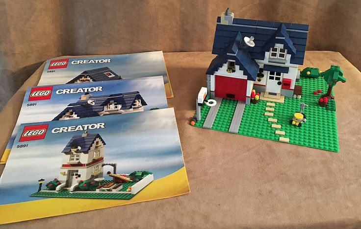 5891 Lego Creator Apple Tree House complete three in one instruction home #LEGO
