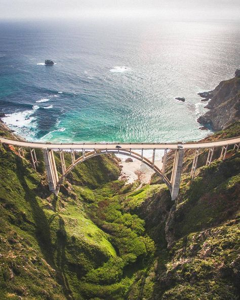 Bixby Bridge, Big Sur, CA. ❁pinterest: @Naomi van der Werf❁