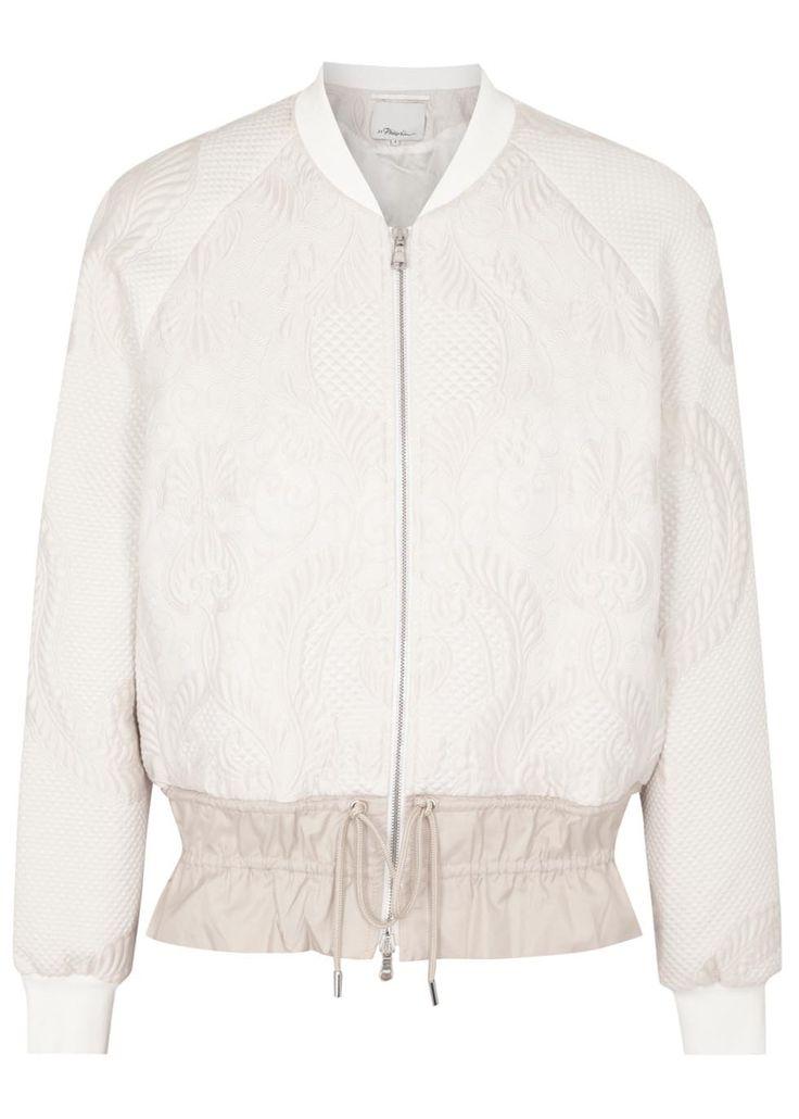 3.1 Phillip Lim blush cloque bomber jacket