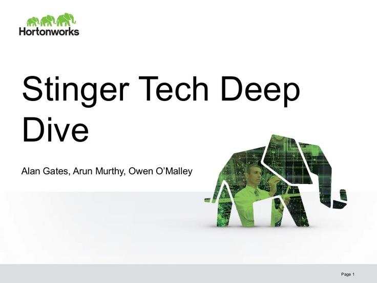 the-stinger-initiative-making-apache-hive-100-times-faster by Yahoo! Developer Network via Slideshare