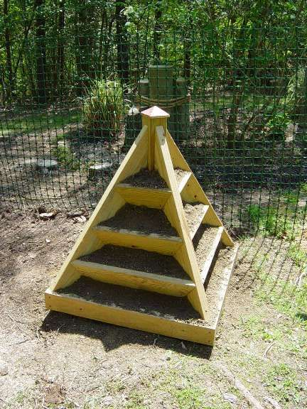 Pyramid garden planter plans woodworking projects plans for Garden planter plans