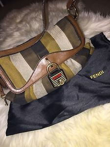 "Fendi ""Zucca Chef"" Shoulder BAG Authentic 