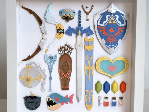 Paper cuts: Legend of Zelda on Behance