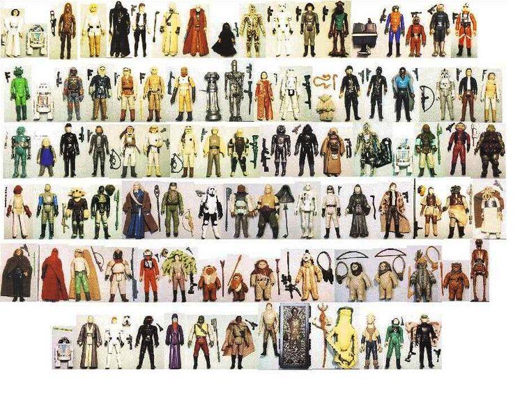 Complete Vintage Collection Of Original Star Wars Action Figures