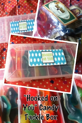 """Hooked on You"" Candy Tackle Box {great candy gift for your favorite fisherman!}"