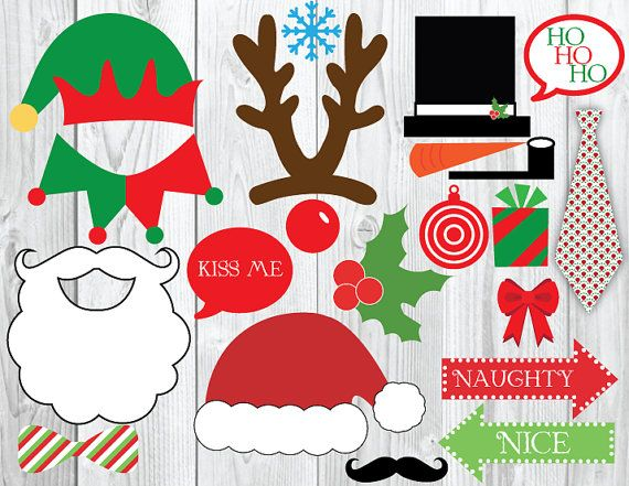 Christmas Photo Booth DIY Printable by YourMainEventPrints on Etsy