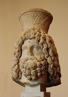 Serapis (Σέραπις, Attic/Ionian Greek) or Sarapis (Σάραπις, Dorian Greek) is a Graeco-Egyptian god. Serapis was devised during the 3rd century BC on the orders of Ptolemy I of Egypt[1] as a means to unify the Greeks and Egyptians in his realm. The god was depicted as Greek in appearance, but with Egyptian trappings, and combined iconography from a great many cults, signifying both abundance and resurrection.