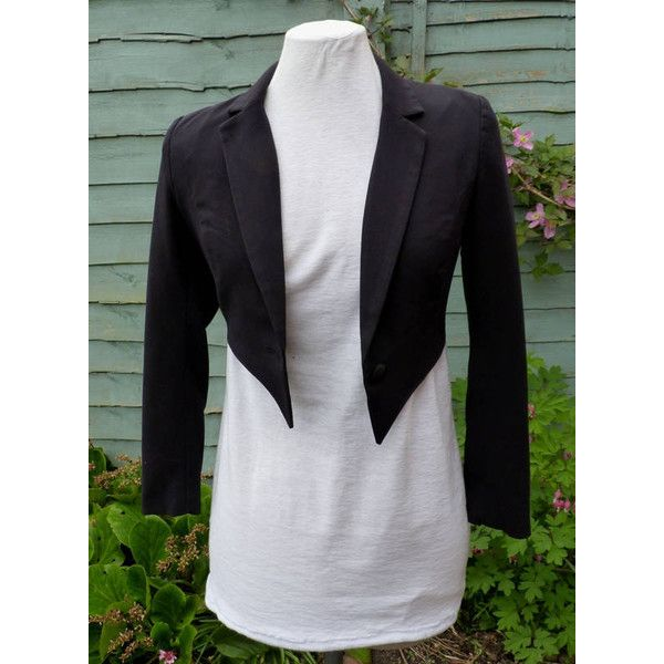 Womens UK 6 US 2 Upcycled Black tailcoat zatanna cosplay (69 CAD) ❤ liked on Polyvore featuring costumes, vintage costumes, cosplay costumes, lady costumes, lady halloween costumes and ladies halloween costumes