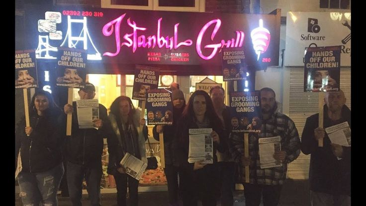 Britain First activists protest outside grooming hotspot Kebab shop!