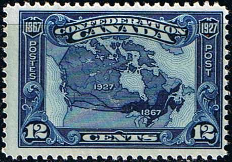Canada 1927 Confederation Map of Canada Fine Mint  SG 270 Scott 145 Other North American and British Commonwealth Stamps HERE!