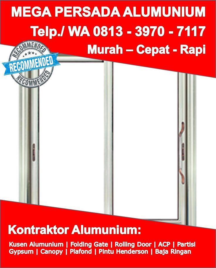 Kusen Aluminium Urat Kayu Sukoharjo, Bahan Kusen Aluminium ...