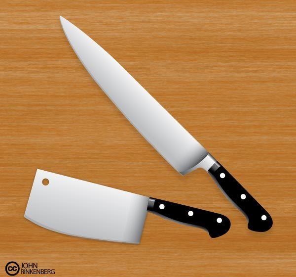 Free Butcher Knife Vector Set