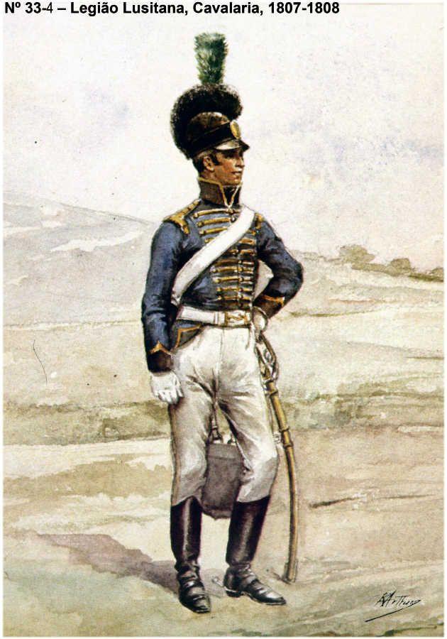LEGIÃO LUSITANA (MARQUES DE ALORNA Cavalerie 1807-1808