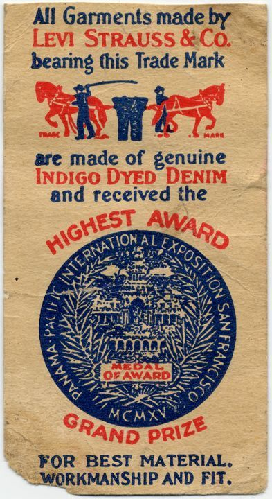 Paper Label indicating the award given in 1915 at the Panama-Pacific Expo, Early 1920's