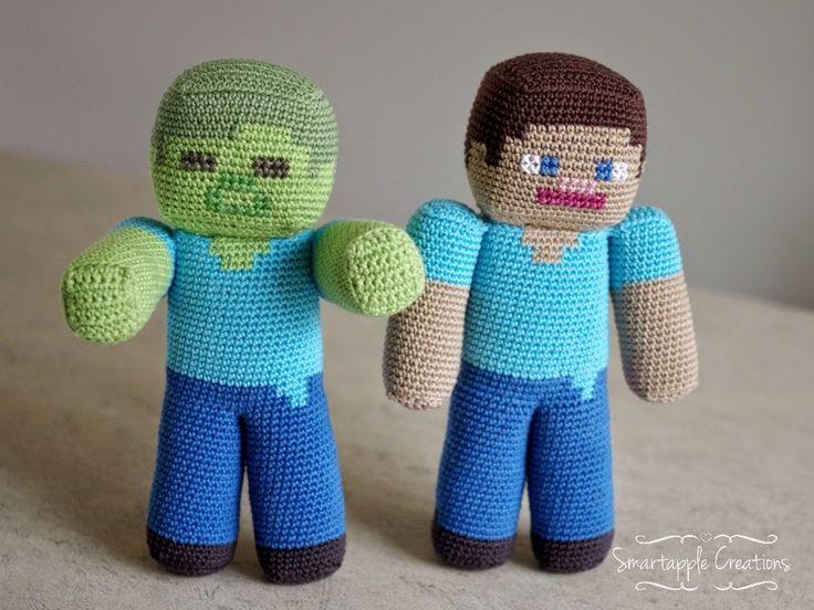 Smartapple Creaciones - amigurumi y ganchillo: Minecraft Steve vs Zombie