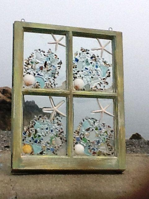 Sea Glass Window 4 pane by beachcreation on Etsy