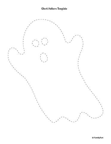 Ghoulish Ghost Pattern for Halloween