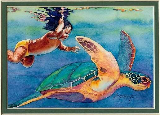 Hawaiian Sea Turtle Art | ... photobucket.com/albums/cc82/Dalana_Notafji/Gifs/Art/hawaiian-art4.jpg